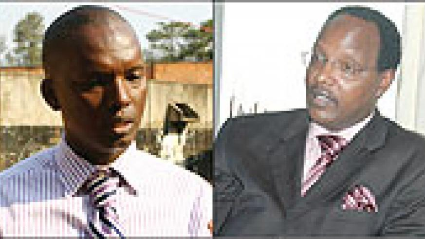 L-R:RECO BOSS: Yves Muyange;NO CAUSE FOR ALARM: Albert Butare