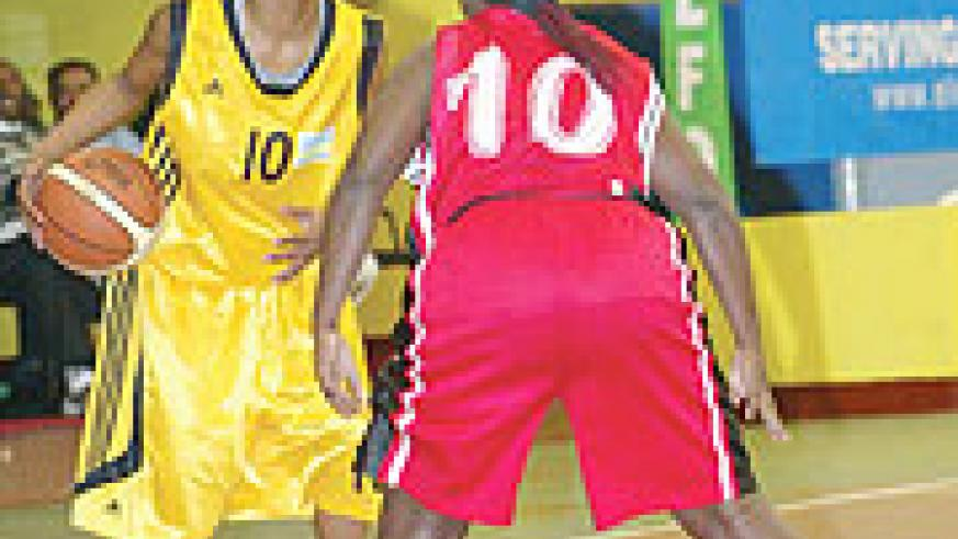 Honore Ayebare in action for Rwanda against Uganda during the Zone 5 championship held in Kigali. (File photo)