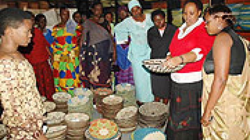 Jane Nkubana of Gahaya Links which exports the peace baskets to the US.