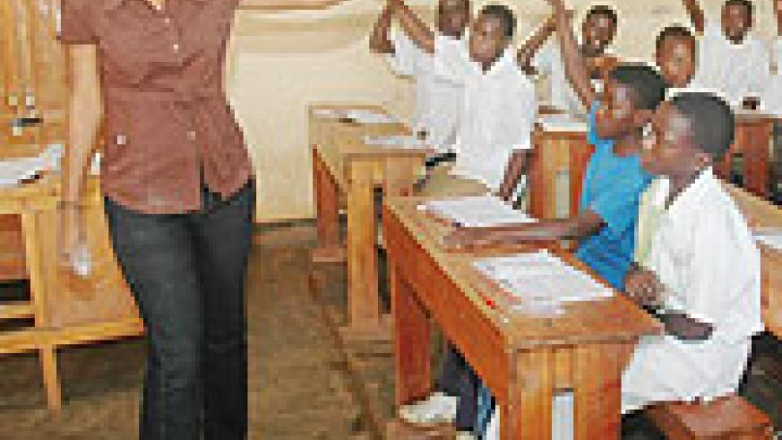 Primary school pupils attending a class. KCC has launched a progamme aimed at encouraging pupils to read.