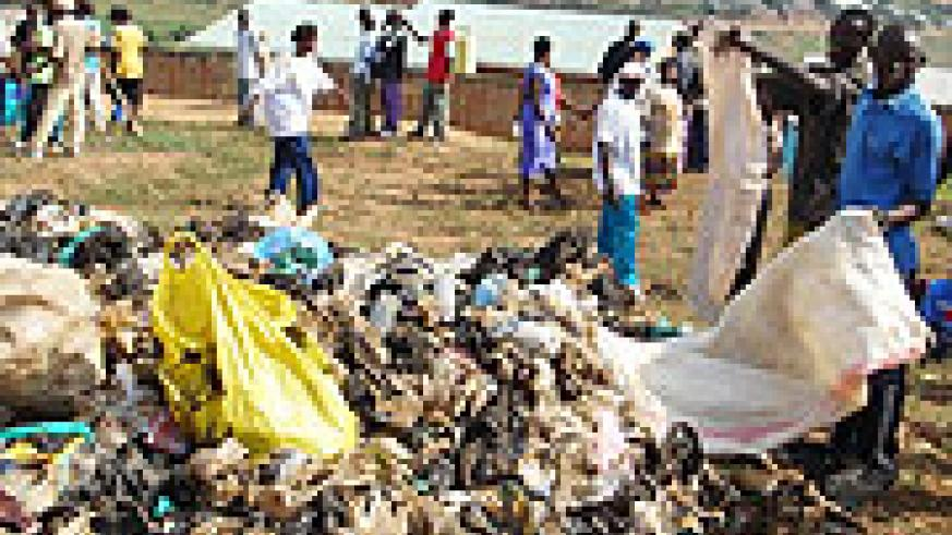 Plastic bags being disposed off. (File Photo)
