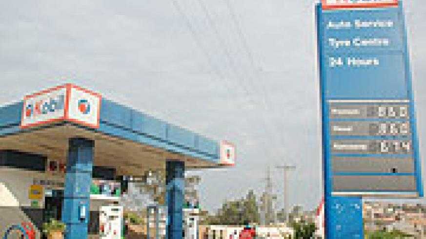 A Kobil petrol station in Gacuriro which was closed down by the Bureau of Standards. (Photo J Mbanda).
