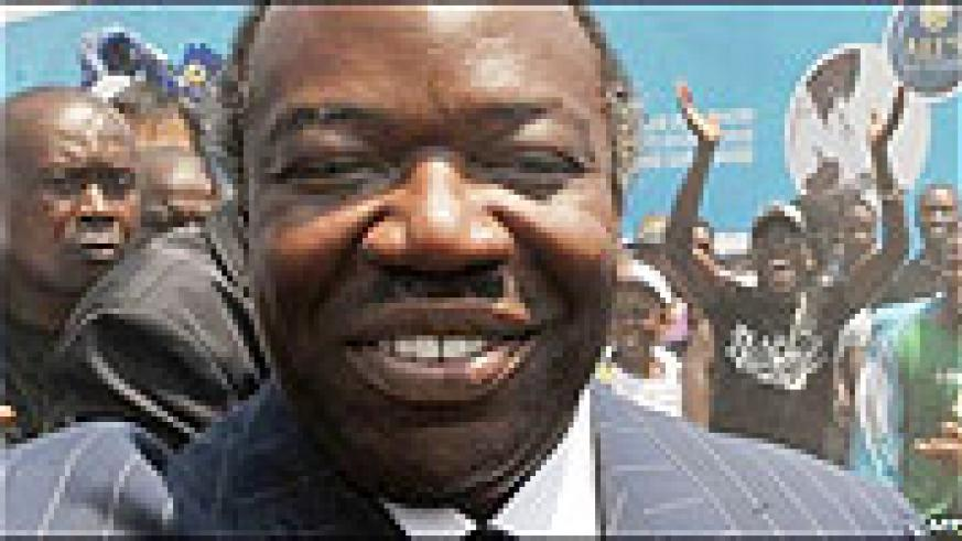 The newly elected Gabonese President, Ali Bongo