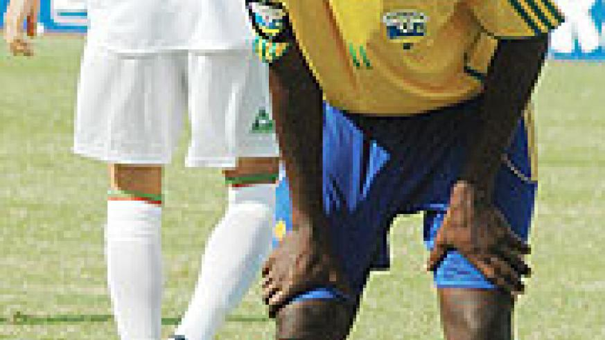 TIRED OF POOR RESULTS: Former Amavubi skipper Olivier Karekezi has failed to find the net in Rwanda's last four games.