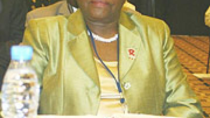 Kenya Health  Minister  Beth Wambui Mugo during the recently concluded WHO meeting in Kigali.