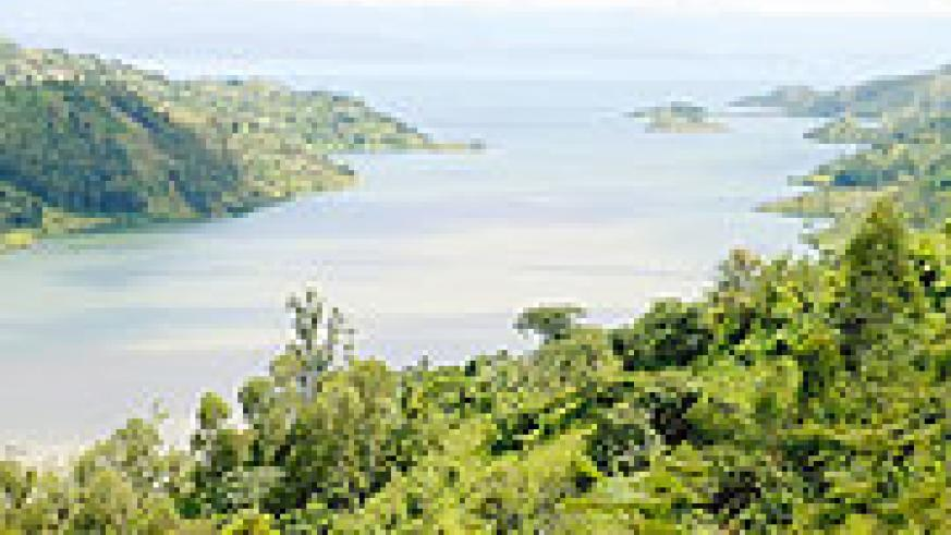 The view of lake Kivu where the boat accident occured.