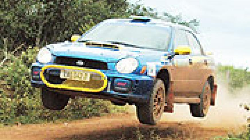 Rwanda's Davite Giancarlo flies his Subaru back in 2007. The national rally champion will be driving an improved version (Subaru N11) next weekend. (File Photo)