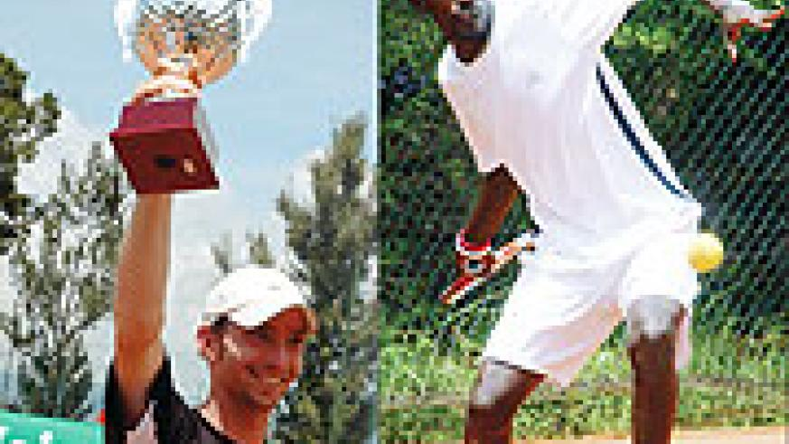 L-R; 2007 ITF Futures champion Lithuania's Sarbeski and Rwanda's Dieudonne Habiyambere. Habiyambere will have to qualify the hard way.(File photo)