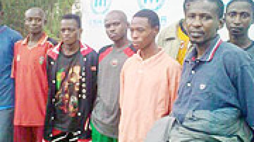 Some of the FDLR rebels who got repatriated on Tuesday through Rusizi 1 border. (Photo: S. Mugisha)