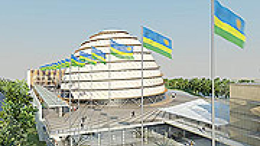 An artistic impression of the Kigali Convention Centre