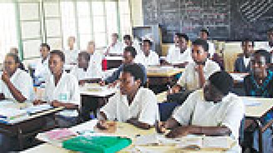 EDUCATING THE NATION: Students of FAWE girls' secondary school, Gisozi during a class (File photo)