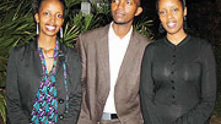 Chevening 2009 Scholarship nominees Tona Isibo, Thierry Ngoga and Diana Mpyisi.