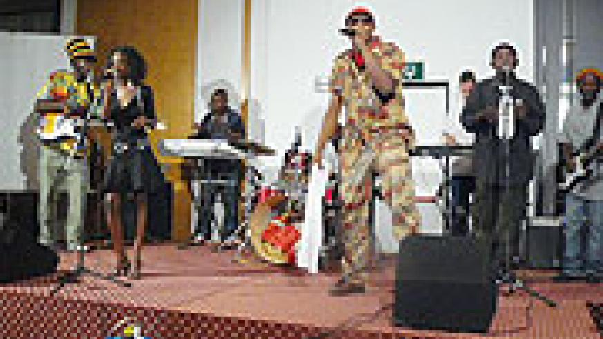 KNC performing at the launch of his film and album.