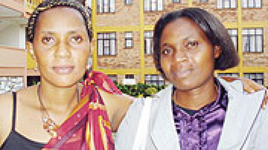 L-R New Southern province leaders, Olive Masirabo and Didaciene Mwambarangwe. (Photo / D. Sabiiti)