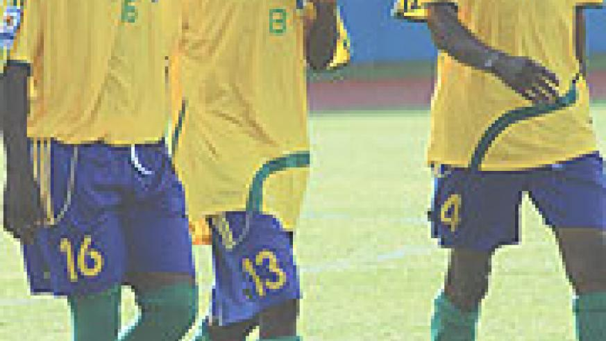 BACK IN THE PICTURE:  APR midfielders Mbuyu Twite (L) and Mafisango (R) will be a major boost for Tucak when they return for the crunch tie against Algeria.