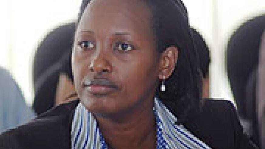 Minister for Infrastructure Linda Bihire