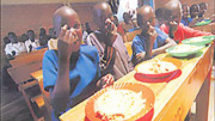 School feeding has improved the enrollment and retention of vulnerable children in Rwanda's primary schools. (Courtesy photo)