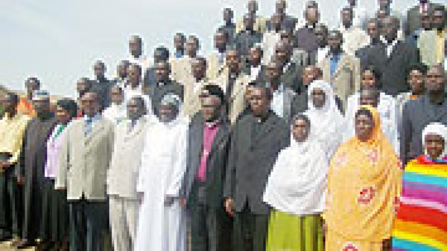 Leaders of different religious denominations  in the province in a group photo opportunity  after  the conference (Photo: D. Sabiiti)