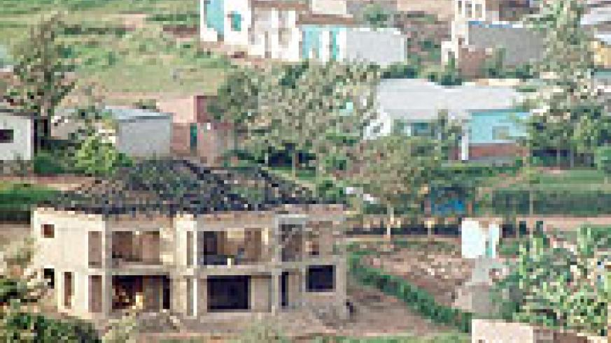 An unfinished house: Kibagabaga landowners are complaining about their poor treatment.