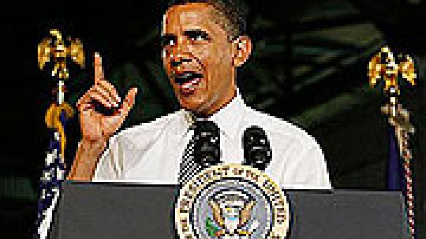 President Barack Obama addresses workers about the economy during a visit to the Lordstown Complex General Motors Plant