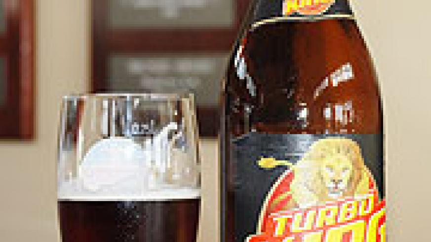 The 'Turbo King' beer brand unveiled yesterday (Photo/ R. Mugabe)
