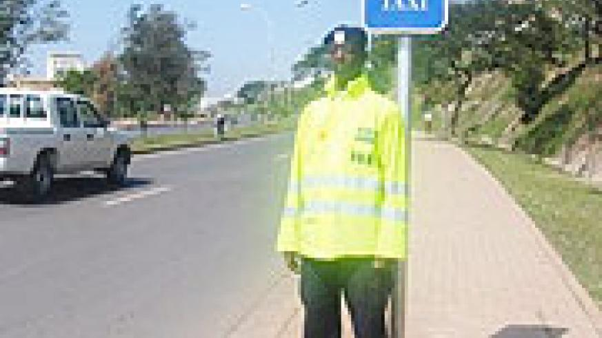 A traffic police officer on duty. Some are being accused of corruption.