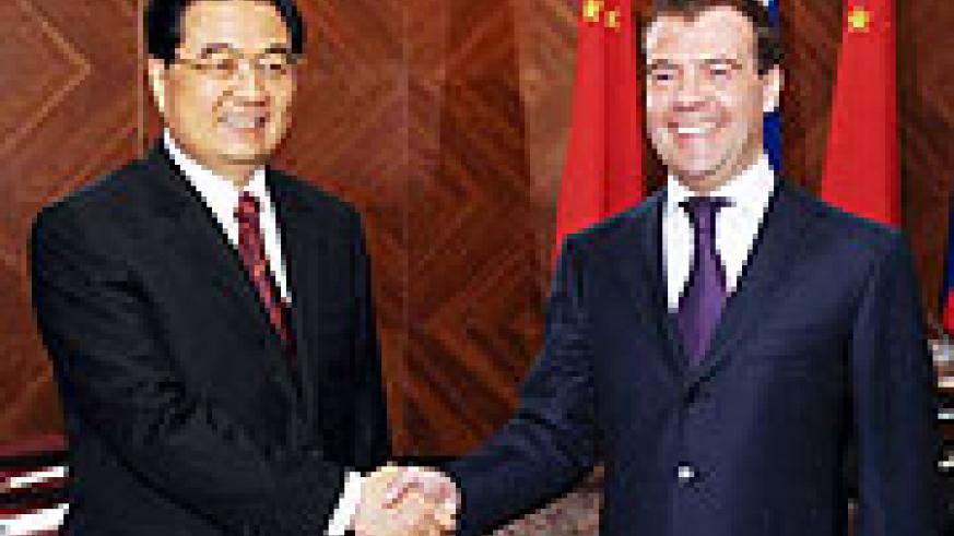 Chinese President Hu Jintao said at a meeting with his Russian counterpart Dmitry Medvedev