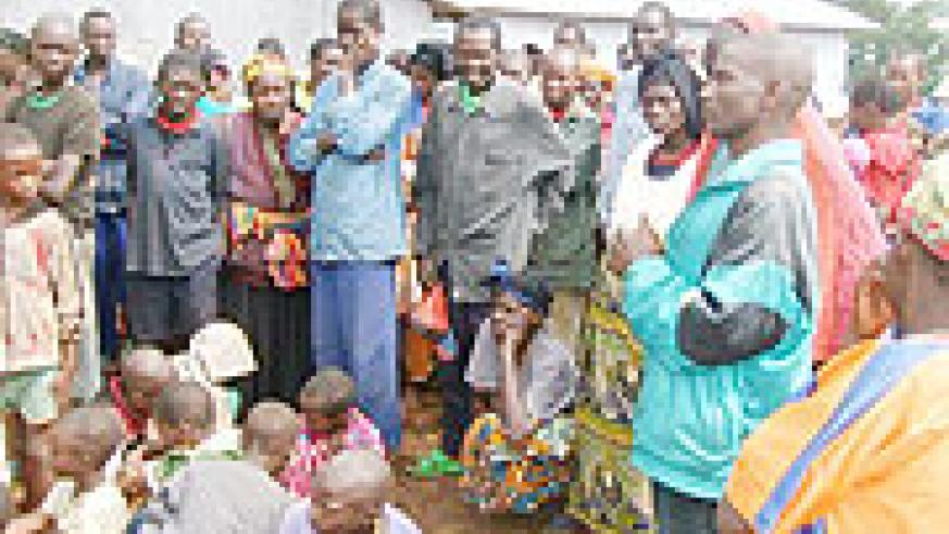 Some of the civilians who were repatriated from DCR by UNHCR. (Photo: S. Mugisha)