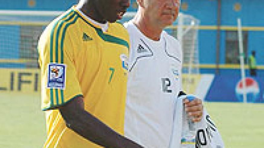 DESPERATE TIMES:  Jimmy Mulisa and Branko Tucak know that their CAN hopes lies on the Zambia qualifier.