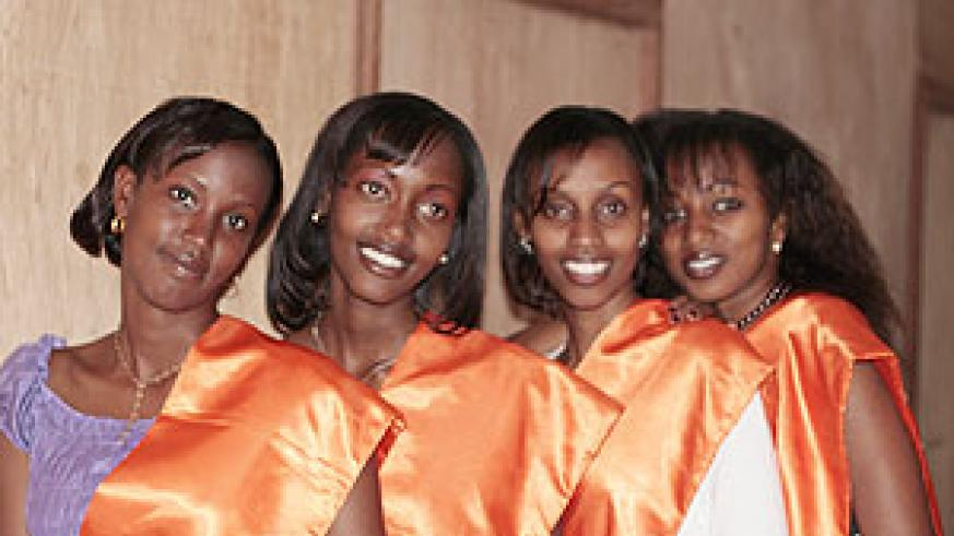 (L-R) Lilian Umurungi, Peace Germaine, Peace Mugwaneza and Uwera Annuarite.