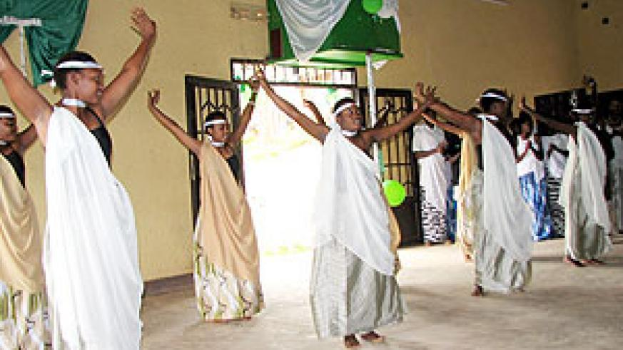 The Rwanda cultural dance is a way of promoting culture among the youth