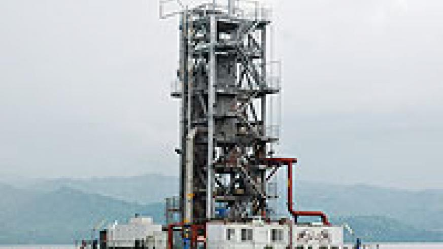 The Methane Gas Plant in Lake Kivu: The project is expected to inctrease Rwanda's power production.(File photo)