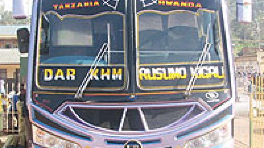 One of the buses owned by Taqwa Coach.