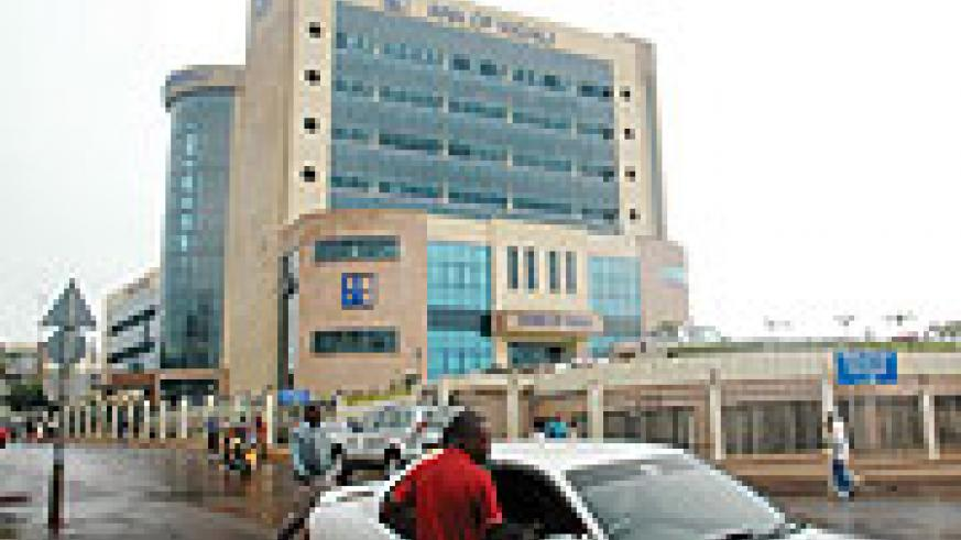 Bank of Kigali (BK) headquarters in Kigali. The bank has laid-off 55 employees. (file photo)