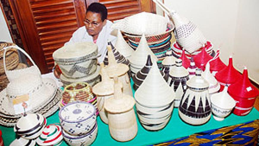 Peace baskets: Some of Rwanda's products that have atrrcted high demand on the local, regional and international market. (File photo)