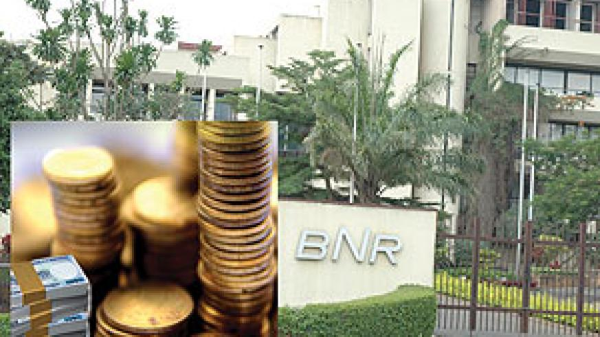 Central Bank building: Inset are Rwandan franc notes and coins. (File photos)