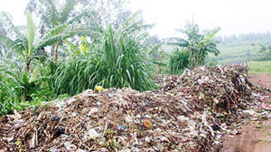 The harzadous dumping site in a residential area. (Photo: S. Rwembeho)