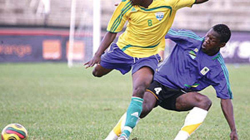 Amavubi's talisman Haruna Niyonzima in action during the second semi-final against Tanzania. His experience will come in handy today. (File Photo)