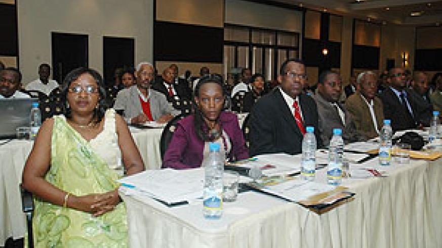 Some of the participants at the Diaspora Global Convention yesterday.  (Photo F. Goodman )