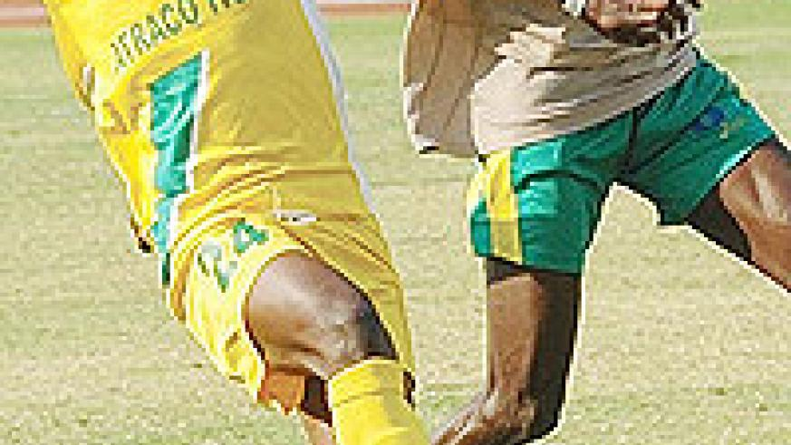 Atraco's head coach Snnnnnnnnnnnnnam Timbe believes good and early preparations can help the likes of Andre Lomami (L) up  their performances in the Caf Confederations Cup.