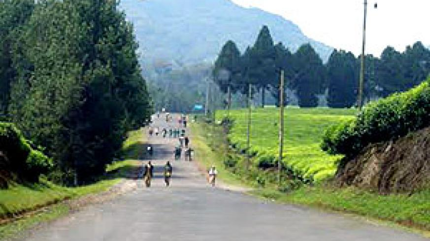 A well tarmaced road. The Kigali-Rusizi road isnt in such good condition despite plans to renovate it