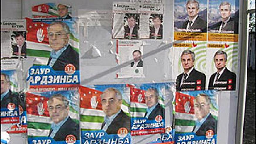 Abkhazian campaign posters