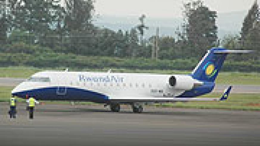 TAKING ON NEW FRONTS : one of the aircrafts that were purchased by Rwandair. (Photo/F.Goodman)