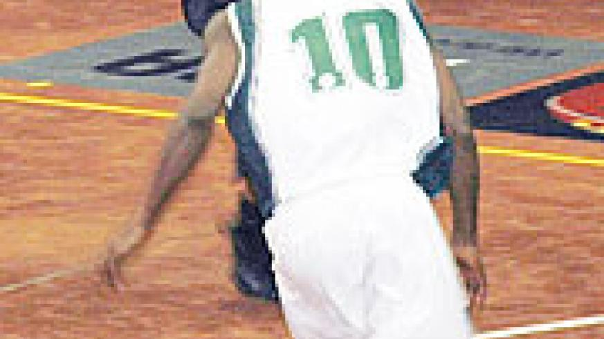 APR's Mathew Miller taking a shot against Kano Pillars of Nigeria. His failure to shoot three pointers yesterday cost the team top spot. (File photo)