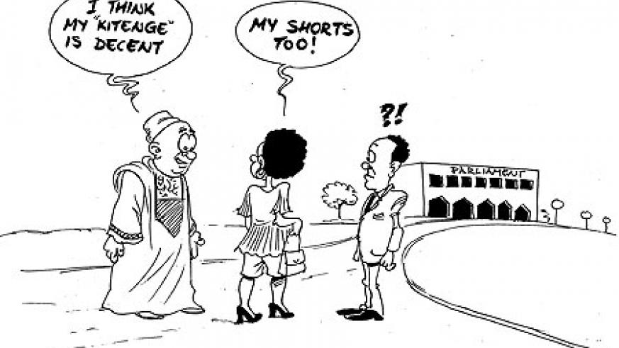 Members of the Lower Chamber of Parliament yesterday agreed to observe at least 'decent levels' of dressing but could not settle for a standard dress code that would define what the MPs should wear or not.