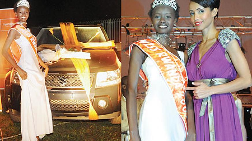 L-R : A ride fit for a queen!;Miss Rwanda joined by judge Sonia Rolland