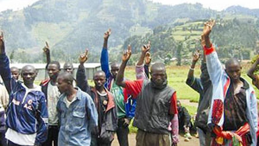 Ex-FDLR rebels in the Mutobo reintegration camp. Rwanda needs all its people to participate in its development