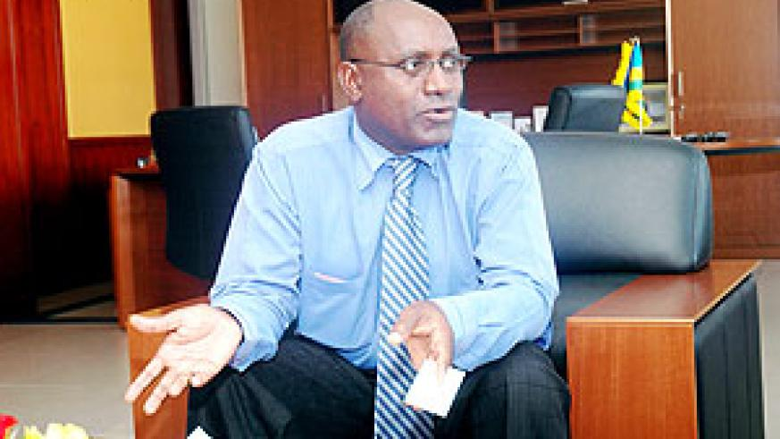 Mr.Henry Gaperi, the Managing Director of the Social Security Fund of Rwanda.