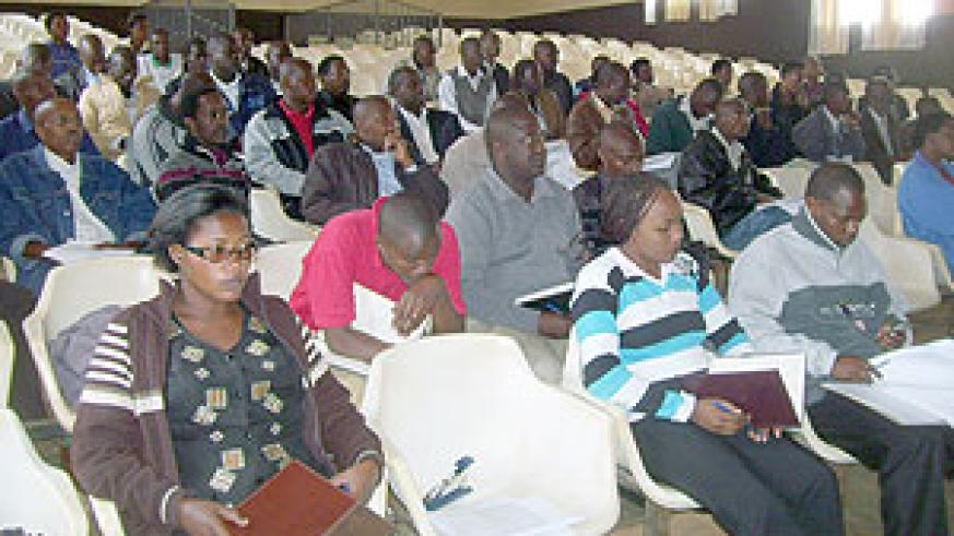 The land registration meeting in Gichumbi. (Photo: A. Gahene)