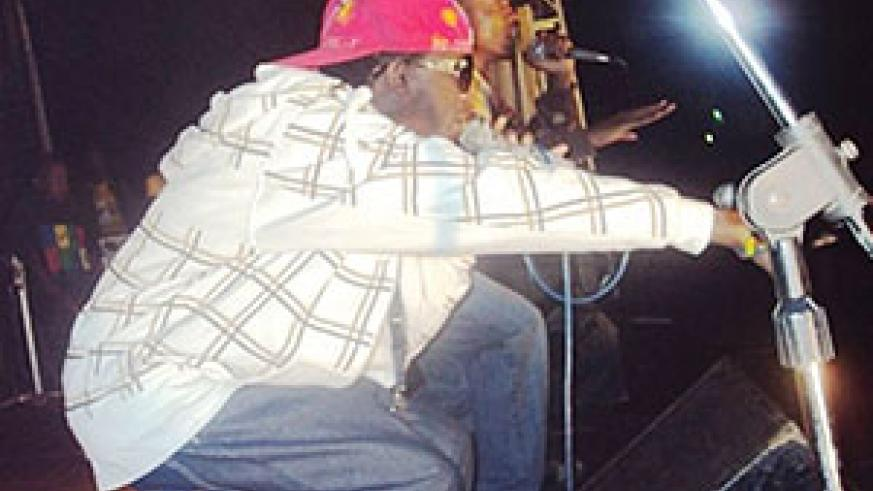 Rapper Riderman performing at the MTN Tuwukate concert
